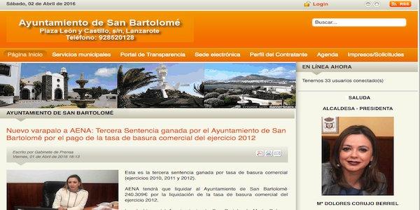 Ayuntamiento de San Bartolomé - Mantenimiento Web - Joomla